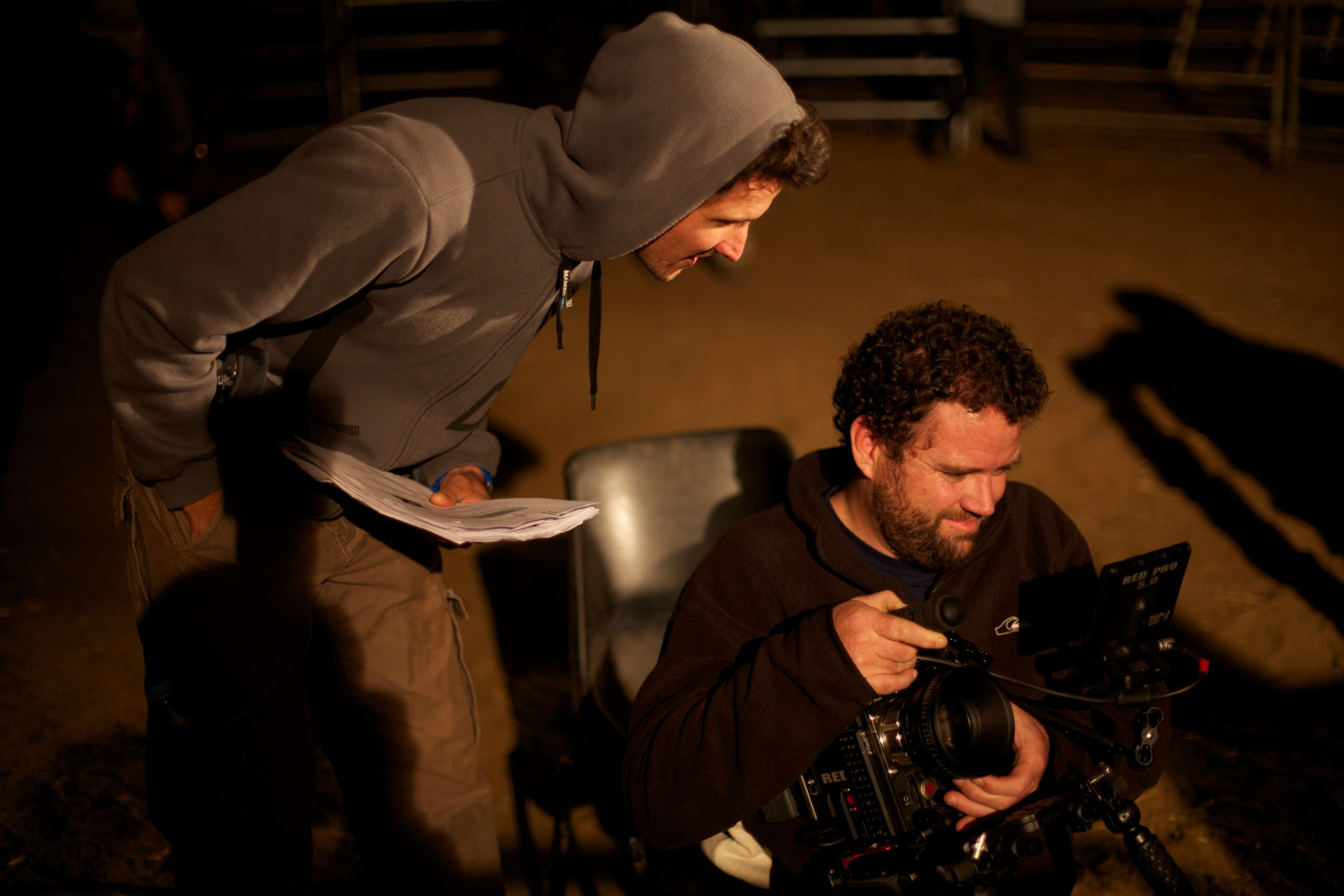 The cinematographer & director checking a shot